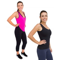 Kit Calça Legging curta + Regata Feminina Emana